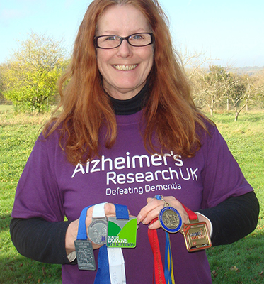 Susie with her five 2012 marathon medals