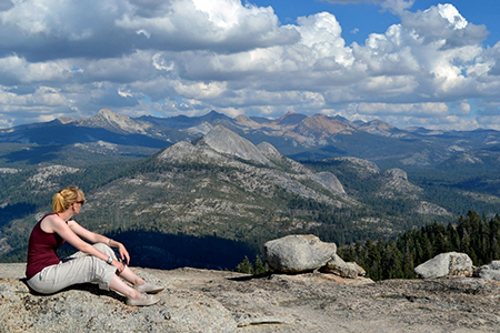 """I remember stopping for a rest at Sentinel Dome after a hot and dusty day of hiking in Yosemite National Park. There were breath-taking 360 degree views."" Laura, Science Communications Team"