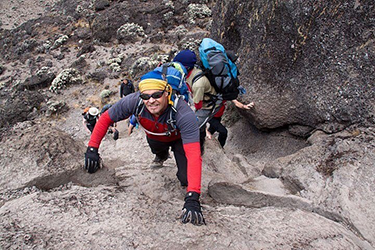 """I have vertigo so climbing Kilimanjaro was terrifying. I like a challenge and I'm ready to take on St Cuthbert's Way!"" Steve, Corporate Partnerships team"