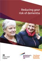 Reducing your risk of dementia booklet cover